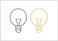 電球のフリー素材テンプレート・画像・イラスト