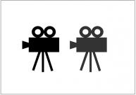 映写機のフリー素材テンプレート・画像・イラスト