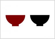 茶碗のフリー素材テンプレート・画像・イラスト