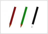 鉛筆のフリー素材テンプレート・画像・イラスト