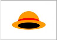 麦わら帽子のフリー素材テンプレート・画像・イラスト