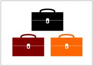 かばんのフリー素材テンプレート・画像・イラスト