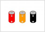 乾電池のフリー素材テンプレート・画像・イラスト