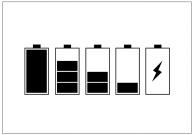 バッテリーアイコンのフリー素材テンプレート・画像・イラスト