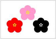 梅の花のフリー素材テンプレート・画像・イラスト
