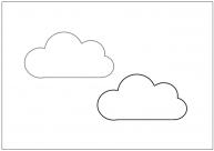 雲のフリー素材テンプレート・画像・イラスト