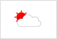 曇りのち晴れのフリー素材テンプレート・画像・イラスト