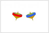独楽(こま)のフリー素材テンプレート・画像・イラスト