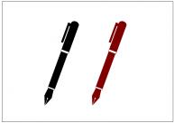 万年筆のフリー素材テンプレート・画像・イラスト
