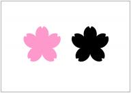 桜の花のフリー素材テンプレート・画像・イラスト