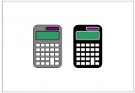 電卓のフリー素材テンプレート・画像・イラスト