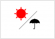晴れのち雨のフリー素材テンプレート・画像・イラスト