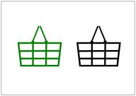 買い物かごのフリー素材テンプレート・画像・イラスト