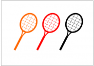 テニスラケットのフリー素材テンプレート・画像・イラスト