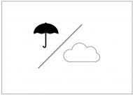雨のち曇りのフリー素材テンプレート・画像・イラスト