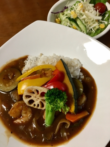 エビ&夏野菜カレー