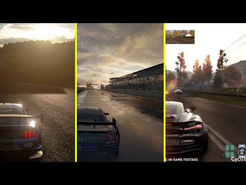 GT Sport vs Forza 7 vs Project CARS 2 Illumination Effect Graphics Comparison