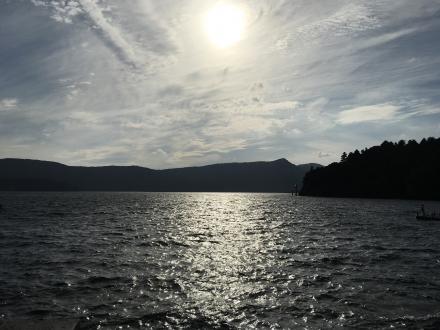芦ノ湖にて