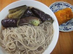 ナス素麺、南瓜煮