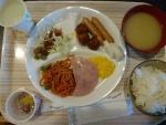 朝食@オレンジエイト食堂
