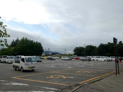 道の駅 オアシスおぶせ 高速側の駐車場