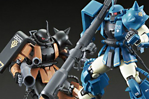 「MG MS-06R-2 ロバート・ギリアム専用ザクII 【再販】」、「MG MS-06R-2 ギャビー・ハザード専用ザクII 【再販】」t