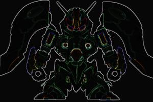 ガシャポン戦士f EX クィン・マンサ シルエットt