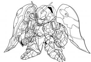 ガシャポン戦士f EX03 クィン・マンサの設定画
