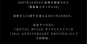 METAL BUILD ガンダムエクシア(10th ANNIVERSARY PACKAGE)の商品説明画像04