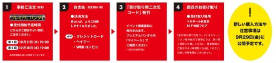 TAMASHII NATION 2017の開催記念商品の販売方法