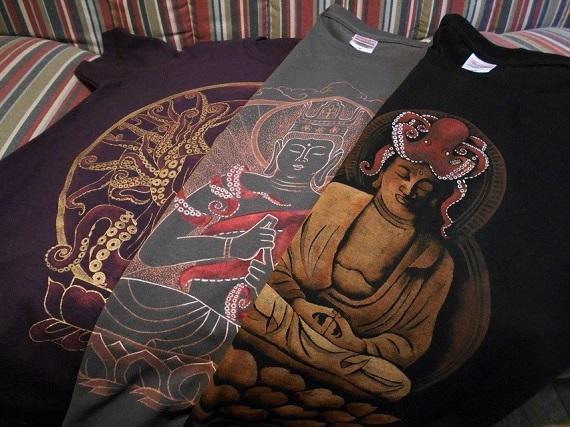 手描きTシャツ タコブツシリーズ