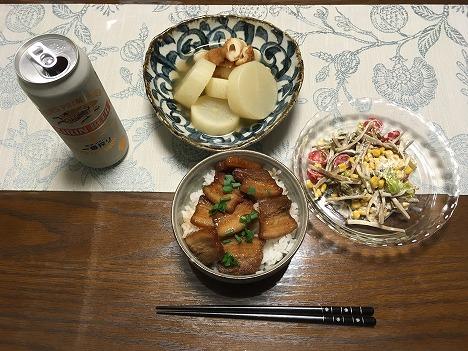 豚角煮丼01