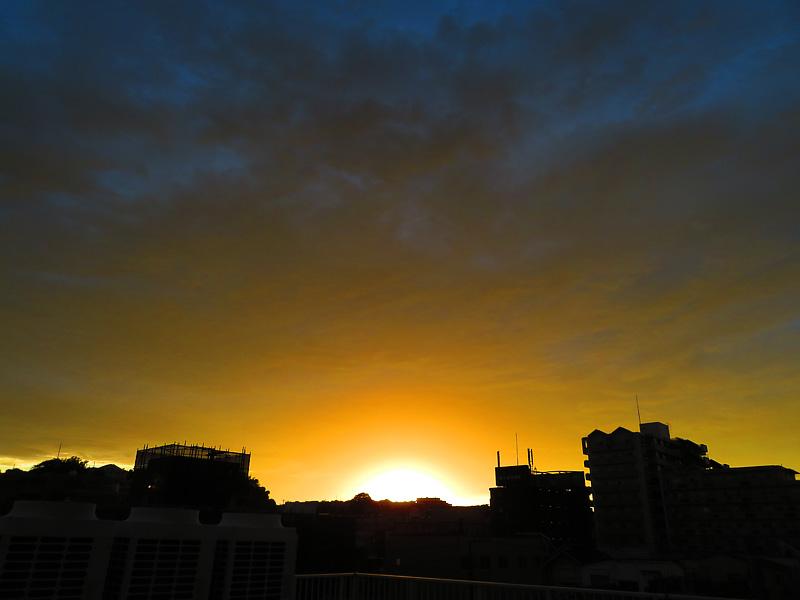 170912,昨日の虹と夕焼け,1