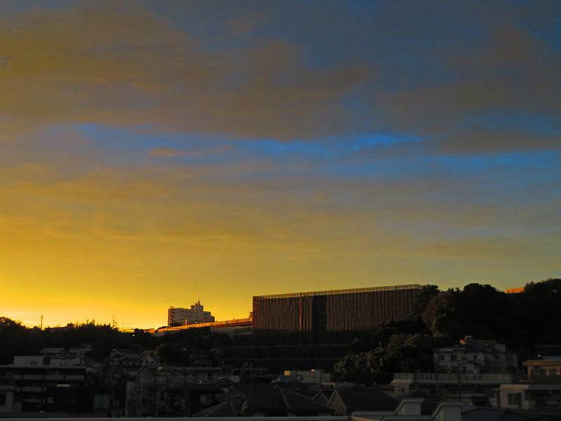 170912,昨日の虹と夕焼け,3