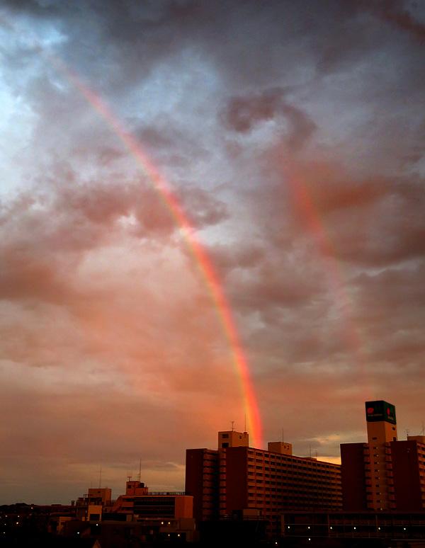 170912,昨日の虹と夕焼け,4