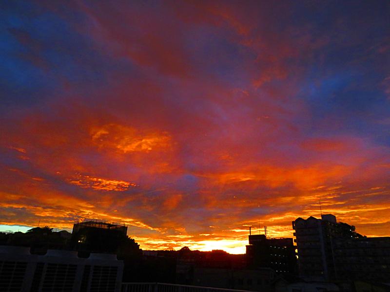 170912,昨日の虹と夕焼け,5