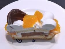 「清見タンゴール」とビターチョコレートムースのケーキ