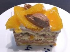 「ネーブルオレンジ」とチョコレートのケーキ