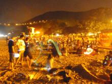 【 道楽のときどき日記 】 ~香港編~-光るビーチ(中秋節)