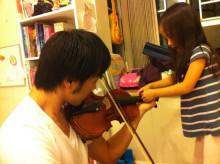 【 道楽のときどき日記 】 ~香港編~-バイオリンレッスン