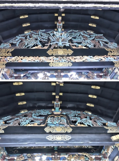 ⑤唐門天井装飾表裏