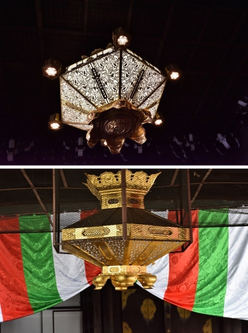 ⑨吊り飾り照明