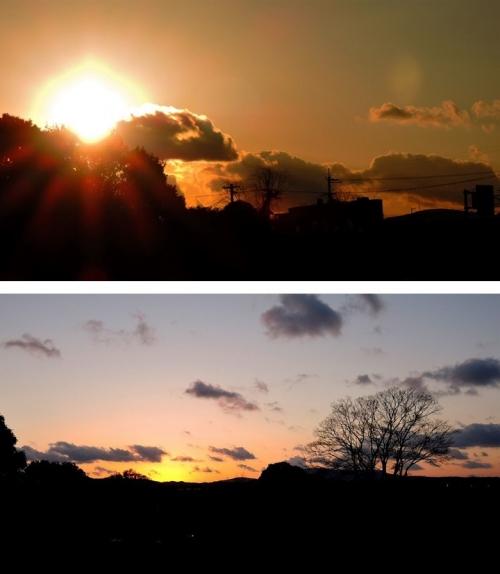 平城宮跡の夕陽