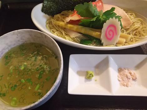天草大王,鯛煮干しと濃厚昆布水のつけ麺
