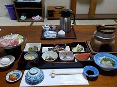 松楓荘夕食