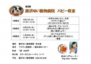 藤沢ゆい動物病院パピー教室スケジュール
