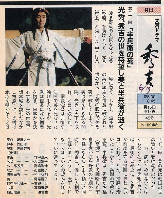 野際陽子「秀吉 第23回」