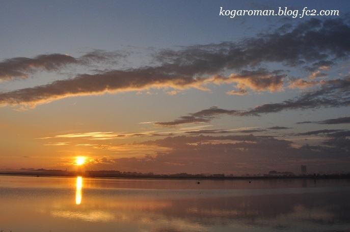 谷中湖の朝日
