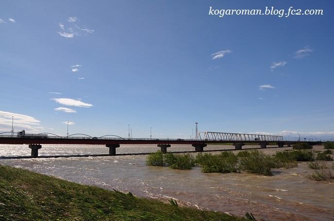 台風後の渡良瀬川