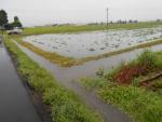 2017年7月22日の大雨(看板横)